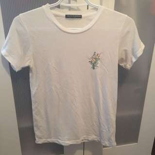 Brandy Melville embroidered shirt
