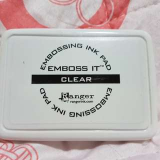 embross it clear ink pad