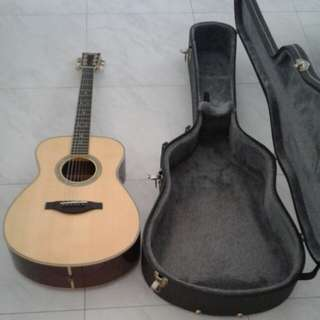 Mint Condition Yamaha LS16 Full Solid Acoustic Guitar With Good Condition Hardcase
