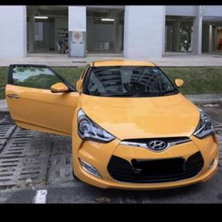 Sexy Hyundai Veloster for rent weekends and cny