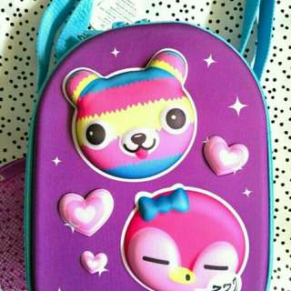 SMIGGLE HARD TOP LUNCH BAG BEAR SAYS COLLECTION