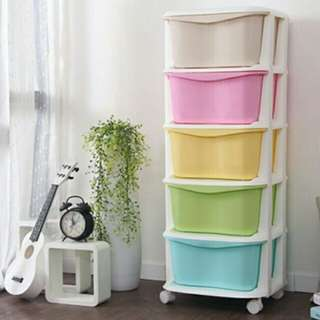 Free postage !! 5 Layer Drawer (Ice Cream Color)
