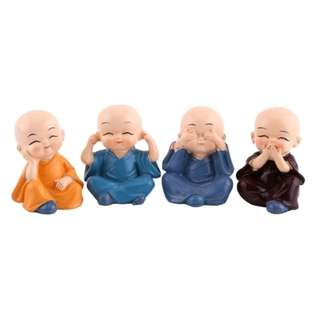 Cute Monks for Display Set