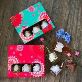 花醋禮盒: 一盒有三支口味 🌸玫瑰花醋🌸 🌸薰衣草花醋🌸 🌸桂花蘋果醋🌸