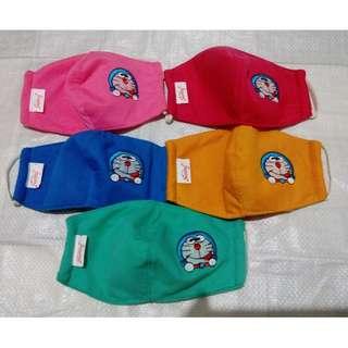 BN Doraemon Fabric Washable Face Mask (each $6) (Various colours)
