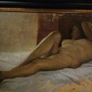 Romulo galicano nude painting oil