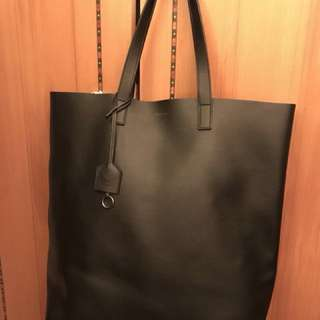 💋保證真貨💄 YSL Tote Bag in Black Leather 黑色真皮袋