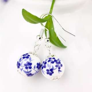 Ceramic Floral Earrings