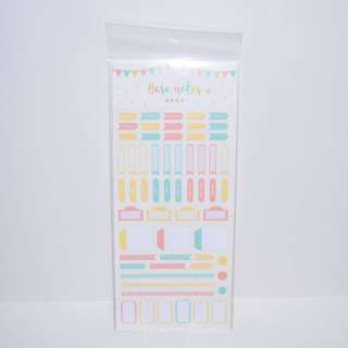 Pastel Coloured Planner Stickers