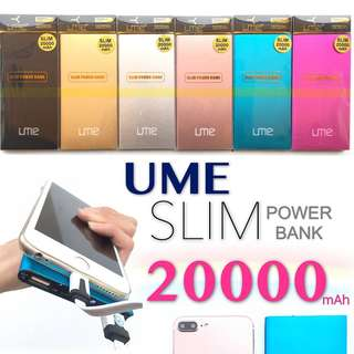 #HUAT50SALES UME 20000mAh Double USB PORT FAST CHARGE POWERBANK