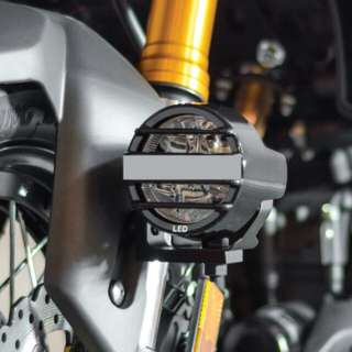 Motorcycle front fender foglight mounting kit