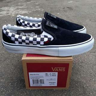 VANS SLIPO-ON PRO CHECKERBOARD  (TRASHER) WHITE