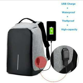 #Huat50Sale~Unisex Backpack USB Charging Port