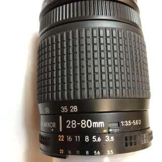 Nikon 28-80mm f:3.5-5.6D (Made in Japan)