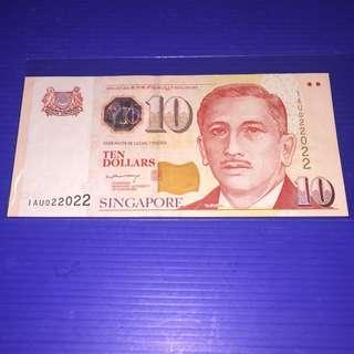 Singapore Portrait (Paper) $10 Repeater No.022022