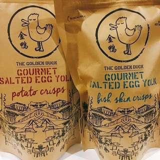 🚚 #新加坡唰嘴零食#金鴨#鹹蛋魚皮#新年特別版#五包以上特價265/包#有蝦皮賣場#2/10陸續出貨#現可預購#適合下酒