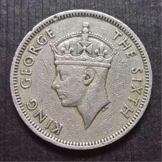 1951 Hong Kong (British) King George VI Copper NIckel 50 Cents 香港 佐治六世 銅鎳幤 五毫