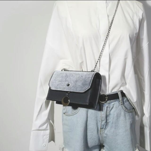 韓版磁扣單肩方包