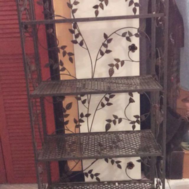 鍛造玫瑰架子櫃子可折疊