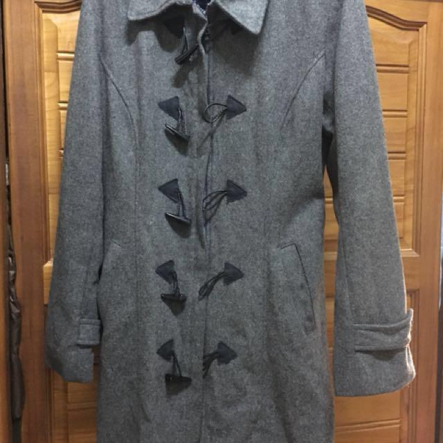 灰色拉鍊長版外套#大掃除五折