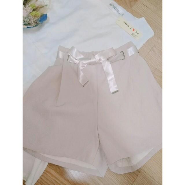 藕粉色蝴蝶結短褲