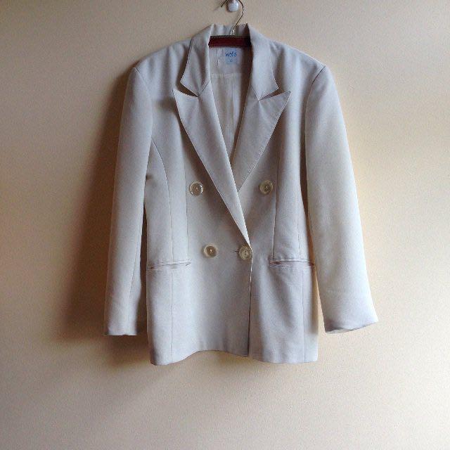柏林古著👘薄棉質素雅套裝外套  #大掃除五折