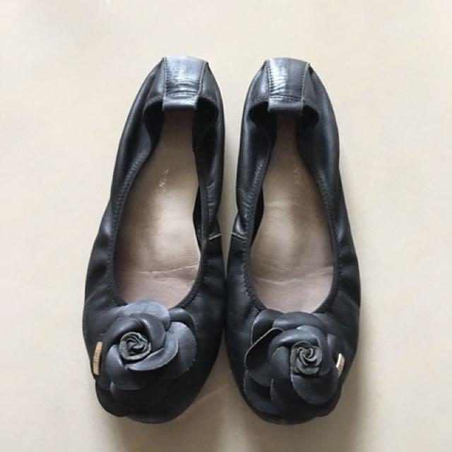 真皮包鞋 黑 便鞋 23號