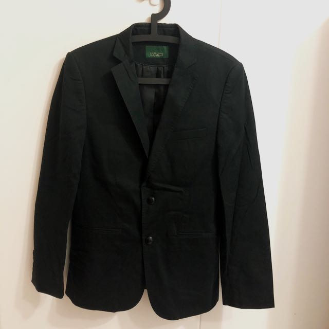 buy popular 80c63 cb82a 💜 Zara Men s Blazer Black, Men s Fashion, Clothes on Carousell