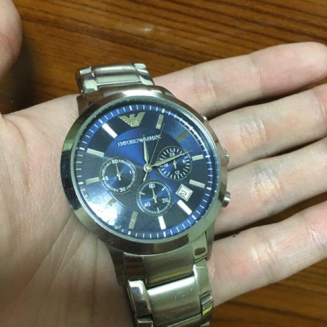 Armani 三眼計時錶