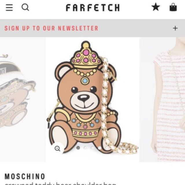 Authentic Moschino Crowned Teddy Bear Bag