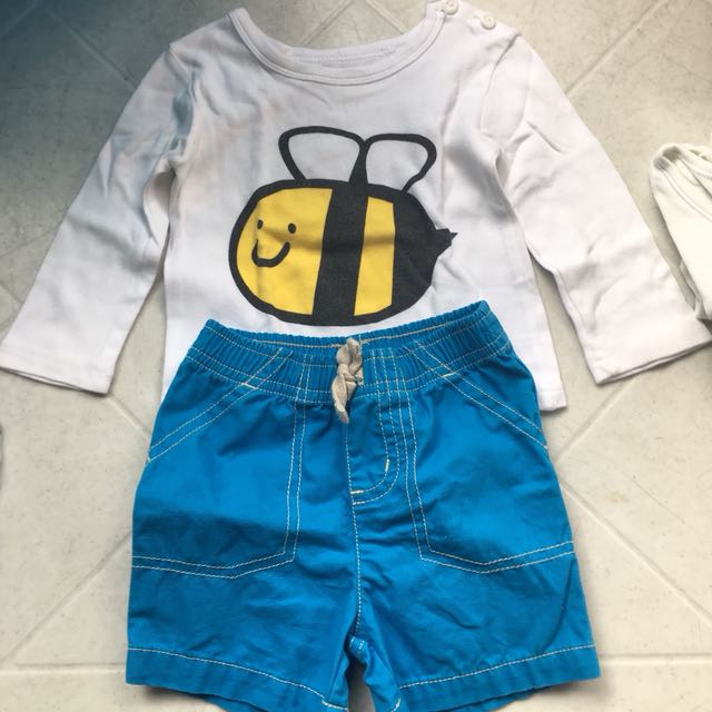 Baby boy terno shorts and longsleeve shirt