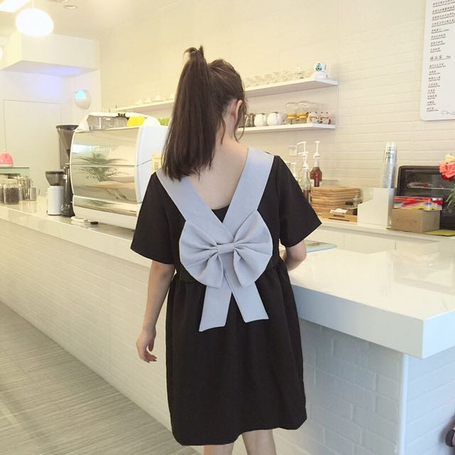 Back Ribbon Dress (PO)