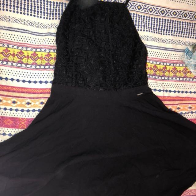 Backless halter neck dress