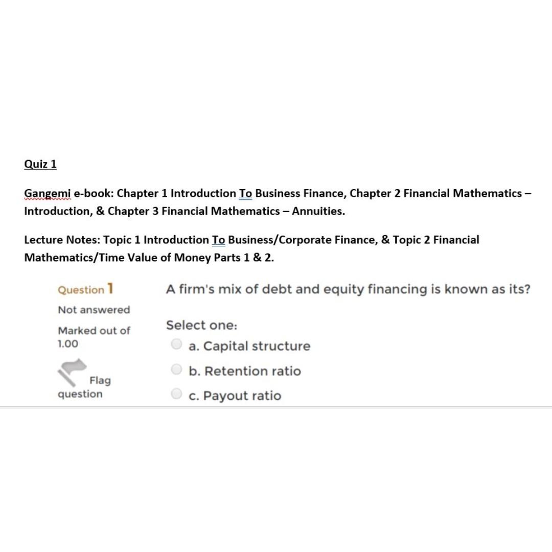 BAFI1012: Business Finance- SIM RMIT, Books & Stationery