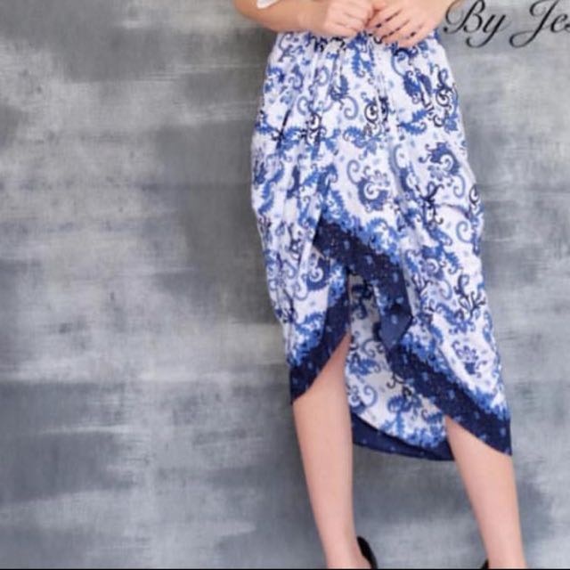 Batik layered skirt