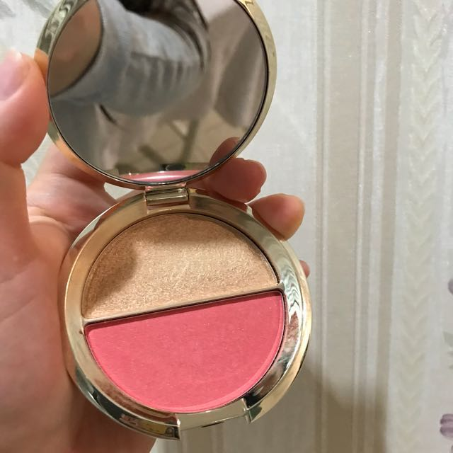 Becca champagne splits shimmering skin perfector mineral blush duos