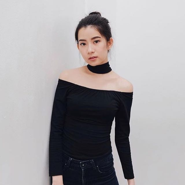 Black Choker Top
