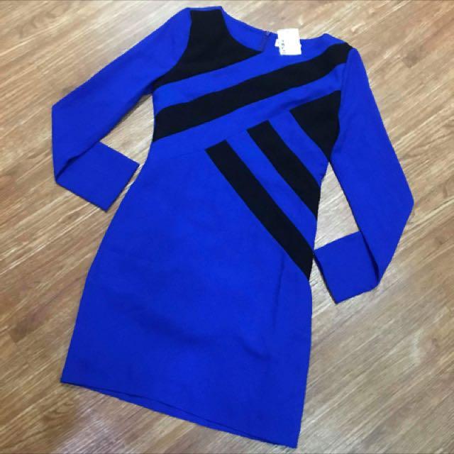 Blue Long sleeves Dress