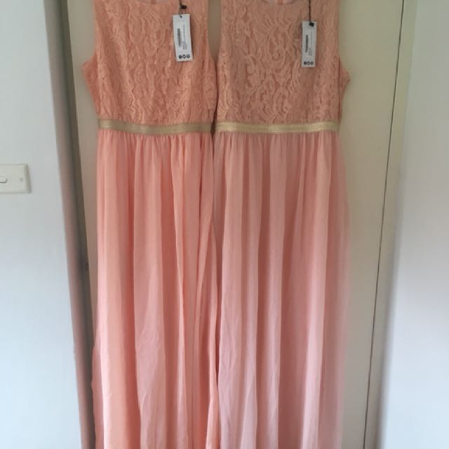Boohoo maxi chiffon dresses 10 & 14
