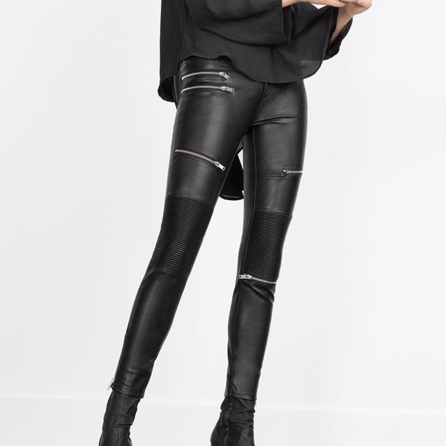 57ef21d02899 Brand New ZARA Faux Leather Pants Size 10