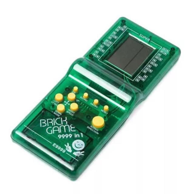 Brick Game / 9999 Games In 1 (Transparent Blue / Green)