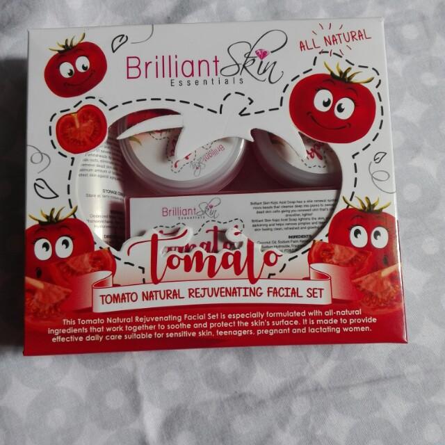 Brilliant skin tomato rejuvenating set