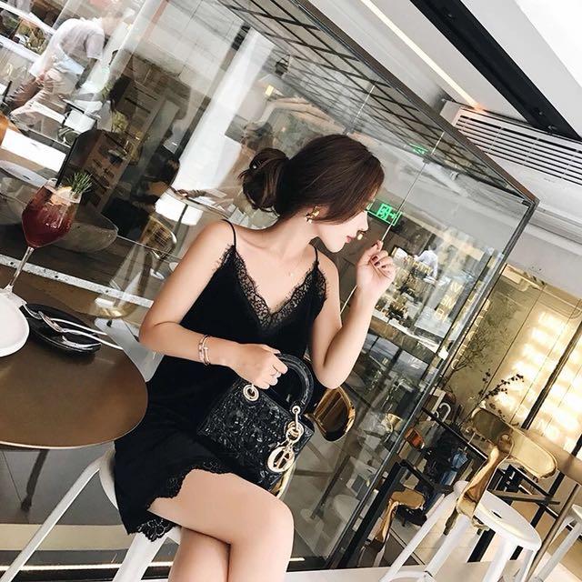Classic Velvet Black dress