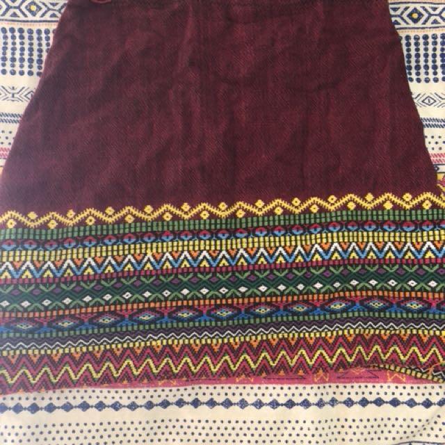 Colourful multicolour mini skirt