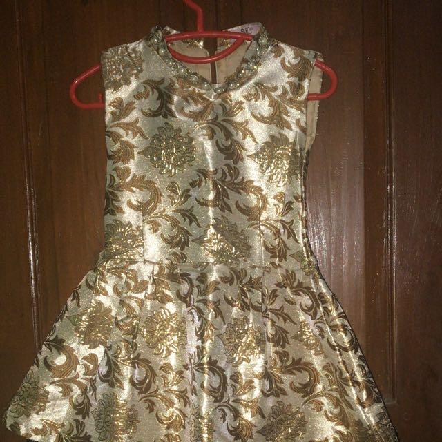 Dress batik gold