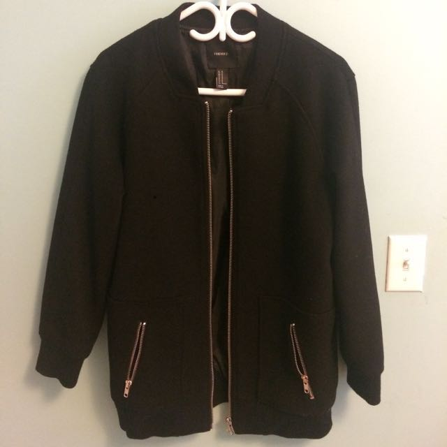 F21 bomber coat