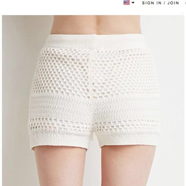 F21 Comfy Crotchet Shorts #Huat50Sale
