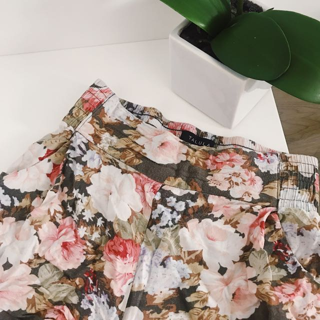 Floral shorts from Aritzia