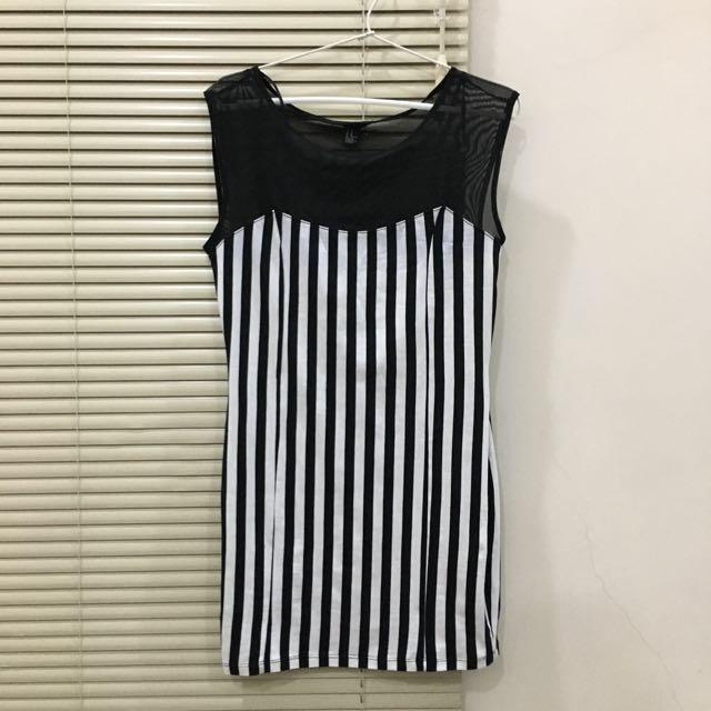 FOREVER 21 Stripes Bodycon Dress