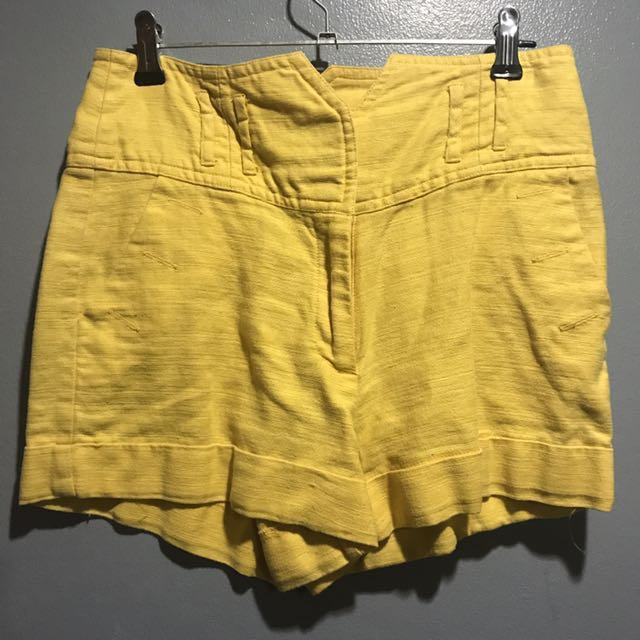 Forever 21 yellow high waist shorts